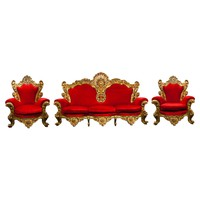 Very Large Baroque Style Three-Piece Giltwood Salon Suite