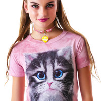 The Mountain Pretty In Pink Kitten Tee Beach Rose