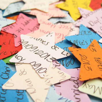 1000 Personalised Star Confetti / Customized Stars / Various Colours / Rustic Wedding, Table Decor