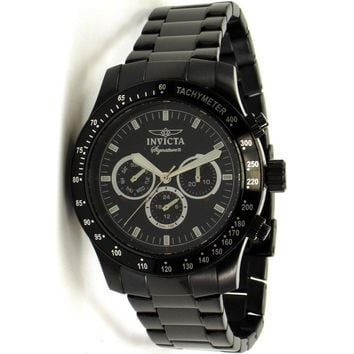 Invicta 7352 Men's Signature II Black Ion Plated Stainless Steel Black Dial Swiss Watch