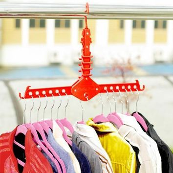 Portable Folding Drying Rack Travel Clothing Coat Hanger