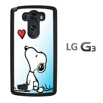 snoopy love heart LG G3 Case