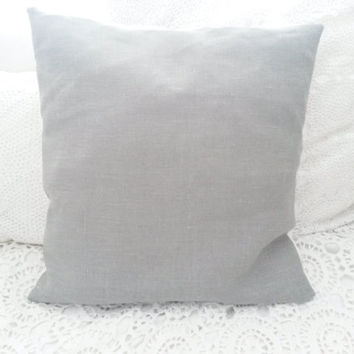 Grey linen pillow, grey linen cushion, cushion cover, pillow cover, grey pillow, grey cushion, French Nordic, gray, grey, cottage chic