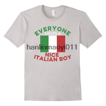 Everyone Loves a Nice Italian Boy T-Shirts - Men's Top Tees