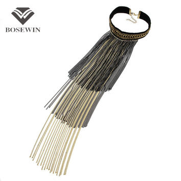 Fashion Multilevel Long Chain Tassel Necklace For Women 2016 New Torques Choker Collar Statement Necklaces & Pendants CE3862