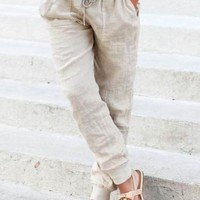 Lilly Relaxed Linen Joggers