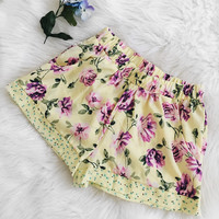 Kinsley Yellow Floral Shorts
