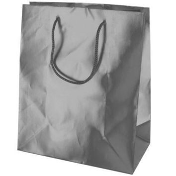 Medium Matte Silver Gift Bag Set Of 30 Pack