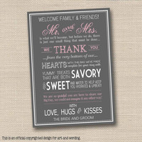 Welcome Letter for Hotel Welcome Bags, Gray and Pink, Instant Download PDF