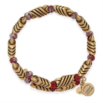 Alex and Ani Red Jasper Forest's Blessing Wrap - Rafaelian Gold Finish