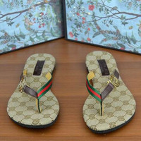 Gucci Casual Fashion Women Print Sandal Slipper Shoes