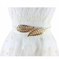 Vintage Leaves Metal Waist Belt