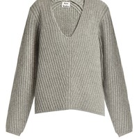 Deborah V-neck wool sweater | Acne Studios | MATCHESFASHION.COM US