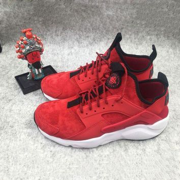 DCCKU62 Sale Nike Air Huarache 1 4 Suede Red White Sport Running Shoes