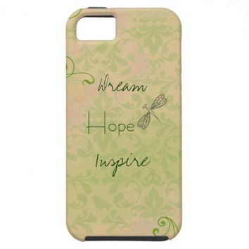 Dragonfly Damask with Inspiration iPhone 5 Cases from Zazzle.com