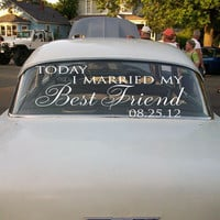 Wedding Getaway Car Decals Today I Married My Best Friend