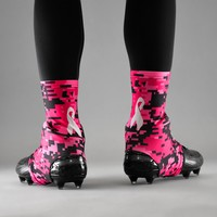 Sleefs BCA Pink Ribbon Digital Camo Black Ribbon Spats / Cleat Covers
