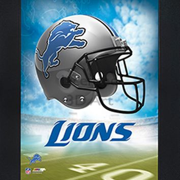 Detroit Lions | 3D Art | By PFF | Framed | 3-D | Lenticular Artwork | NFL Licensed