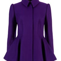 SOLLEL - Short peplum coat - Deep Purple | Womens | Ted Baker ROW