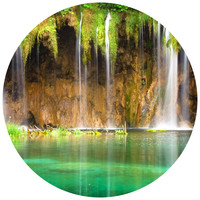 Waterfall Circle Wall Decal