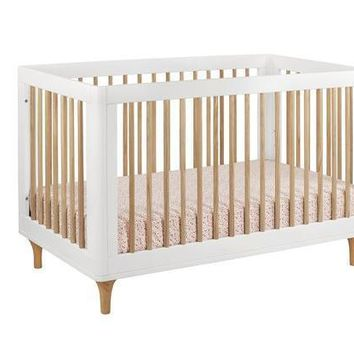 babyletto lolly 3 in 1 convertible crib with toddler bed conversion kit white washed