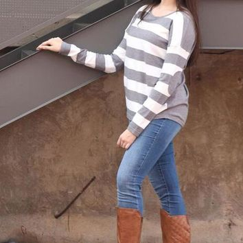 Double Trouble Striped Sweater