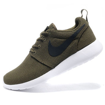 pretty nice a3ef8 57ca0 NIKE Women Men Running Sport Casual Shoes Sneakers Army green
