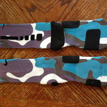 Custom Nike Elite Socks Grapes by OverTimeInk72 on Etsy
