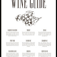 Wine guide, poster
