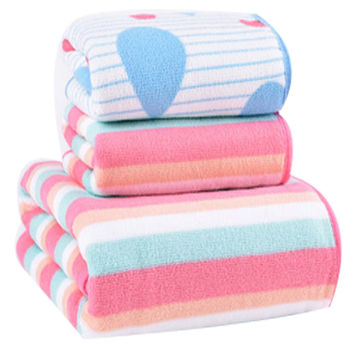 Durable Strong Absorbent Towel Bath Towels Sets(Multicolor)