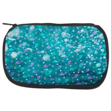 CREYCY8 Mermaids Pearls and Starfish Pattern Travel Bag
