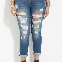Plus Size Distressed Jeans | Forever 21 PLUS - 2000169200