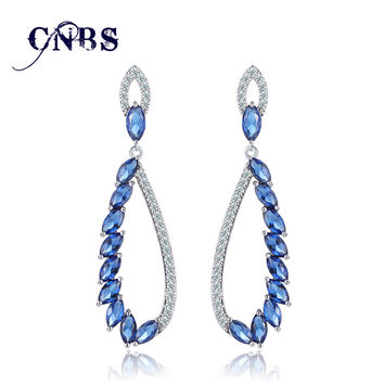 2017 Long Dangle Stunning Crystal design Drop Earrings 6 colors
