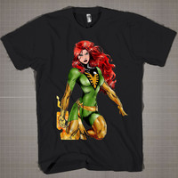 Jean Grey X-Men  Mens and Women T-Shirt Available Color Black And White
