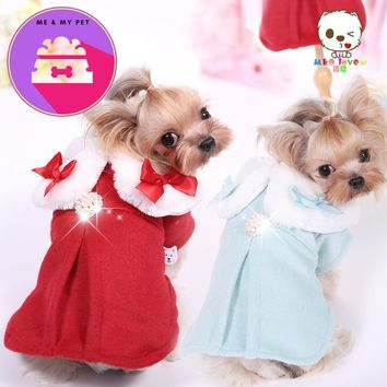 High Quality Small Dog Coat Large Size Pet Dog Clothes Winter Clothing For Puppy Luxurious Woolen Dog Apparel