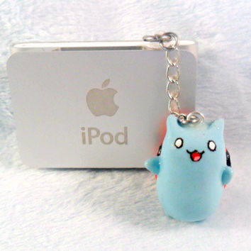 Catbug Bravest Warriors Phone Charm, Dust Plug or Cell Phone Strap, For iPhone or iPod, or Keychain, Cute, Kawaii :D
