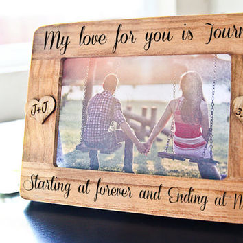 personalized picture frame engraved frame for couple engagement anniversary wedding gift gift - Engagement Photo Frames