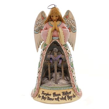 Jim Shore ALWAY FORGIVEN NEVER FORSAKEN Polyresin Angel Diorama Crosses 6003626