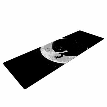 "Digital Carbine ""Moon Hug"" Black White Yoga Mat"