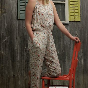 Dreamy Cream Floral Jumpsuit