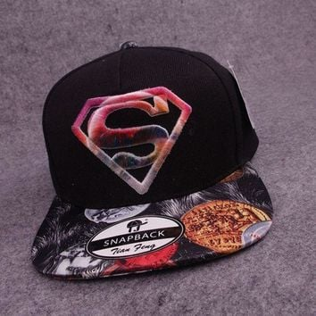 ONETOW 2015 new superman baseball caps hip-hop style hats black (Color: Black) = 1946757892