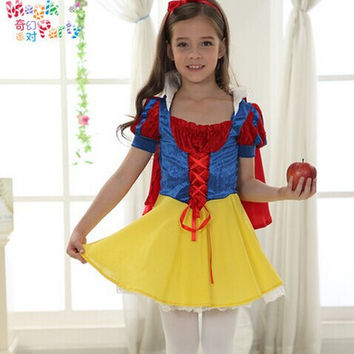 costume snow white costume princess costume girls cosplay cartoon costume supergirl fairy cosplay party dress