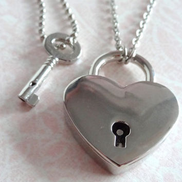 Key To My Heart His and Hers Couple Necklaces by Beadix on Etsy