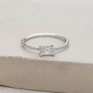 Classic Baguette Ring - Silver