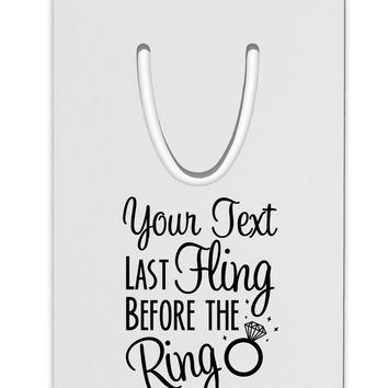 Personalized Bachelorette Party - Last Fling Before the Ring Aluminum Paper Clip Bookmark