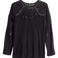 Top with Beaded Embroidery - from H&M