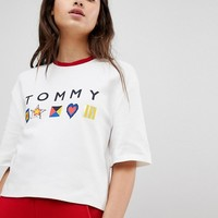 Tommy Hilfiger Sweat Tee with Logo at asos.com