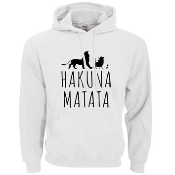 HAKUNA MATATA Printed Men Hoody 2017 Autumn Winter Fleece High Quality Men's Sweatshirts Hoodies Harajuku Outwear Tracksuit