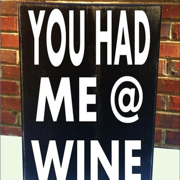 Wine  Mini Distressed Wood Sign Housewares Home Decor Gift