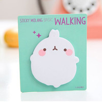Memo Pad Labels Sticky Notes | Stationary Cute Korean Post-It | Bookmark Paper | School Office Supplies| Removable Adhesive Fat Rabbit M31